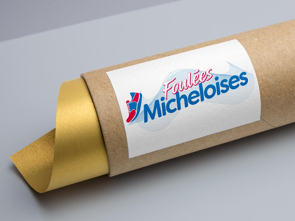 foulees_micheloises_creation_logo
